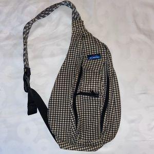 Kavu Rope Bag Houndstooth Crossbody Backpack